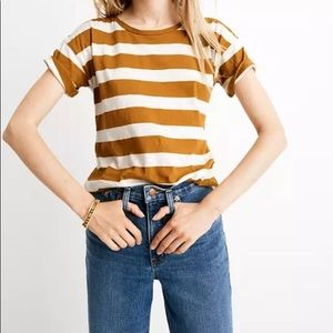 Madewell whisper cotton striped tee Size XS